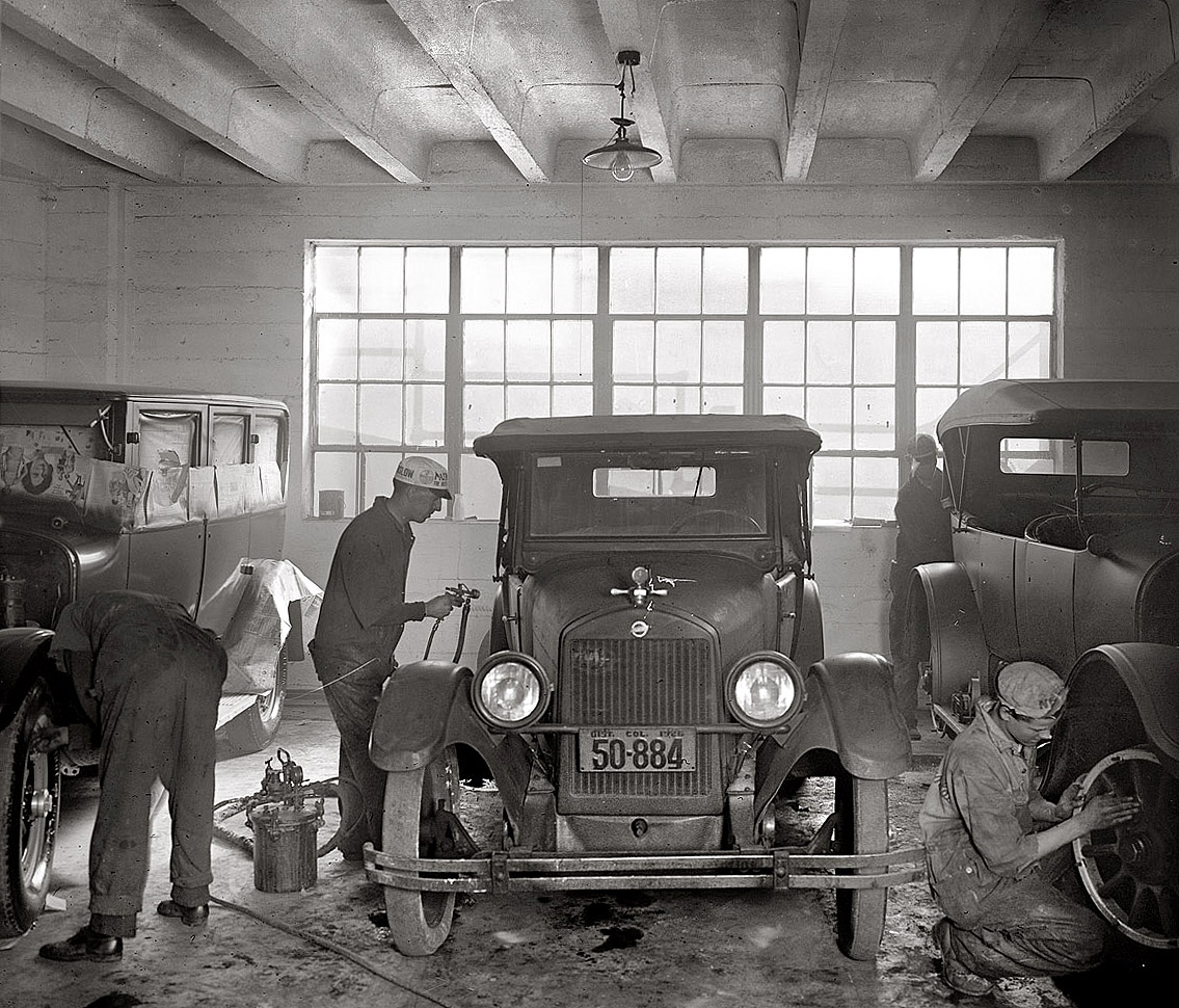 1926 paint booth