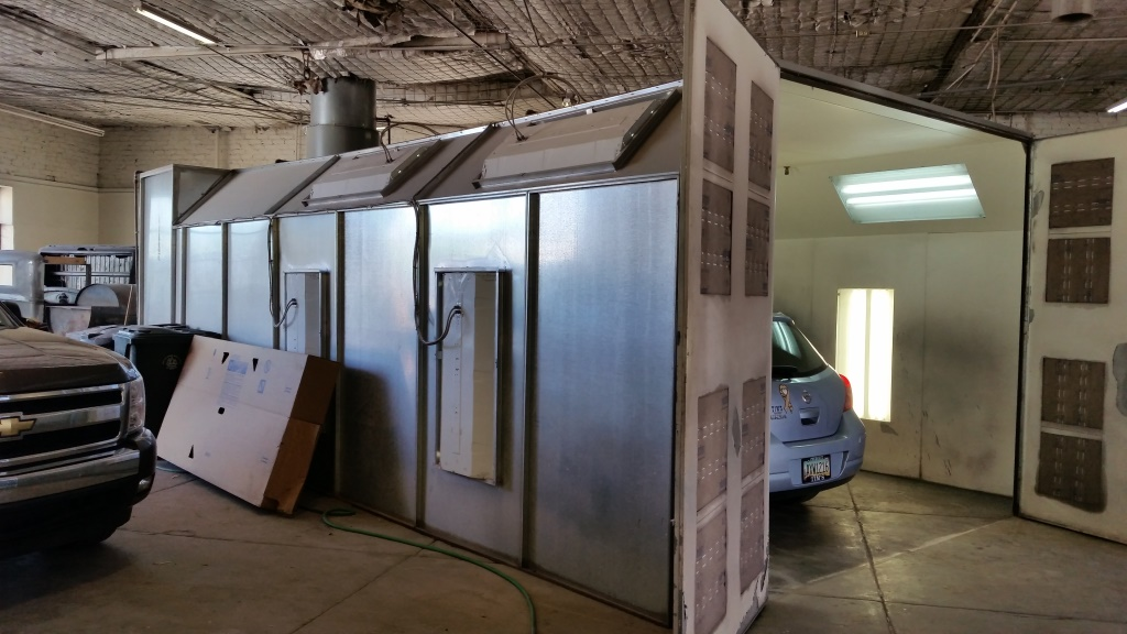 A Surprise Cross Flow Paint Booth In Williams Arizona