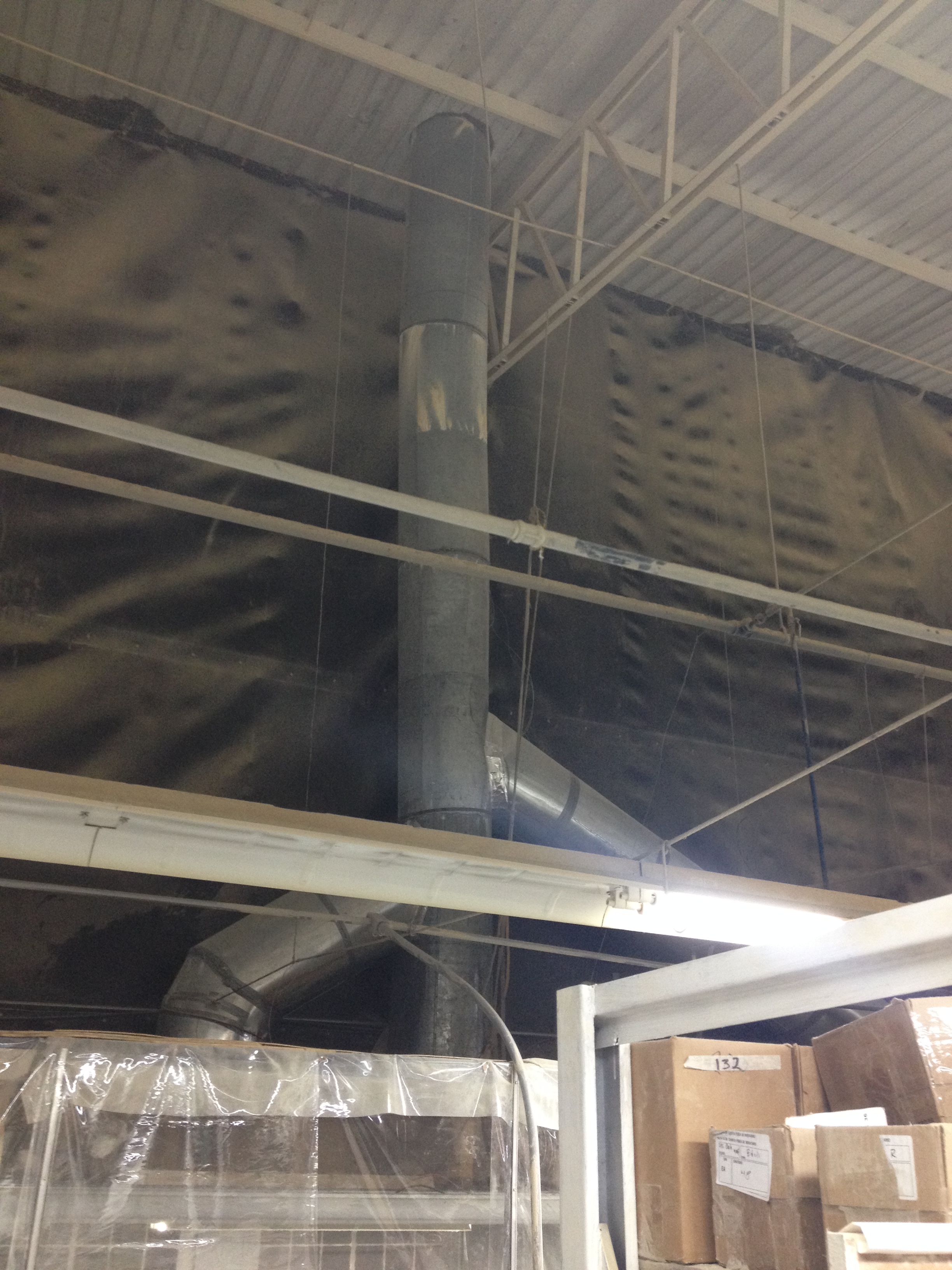Spray booth exhaust ductwork