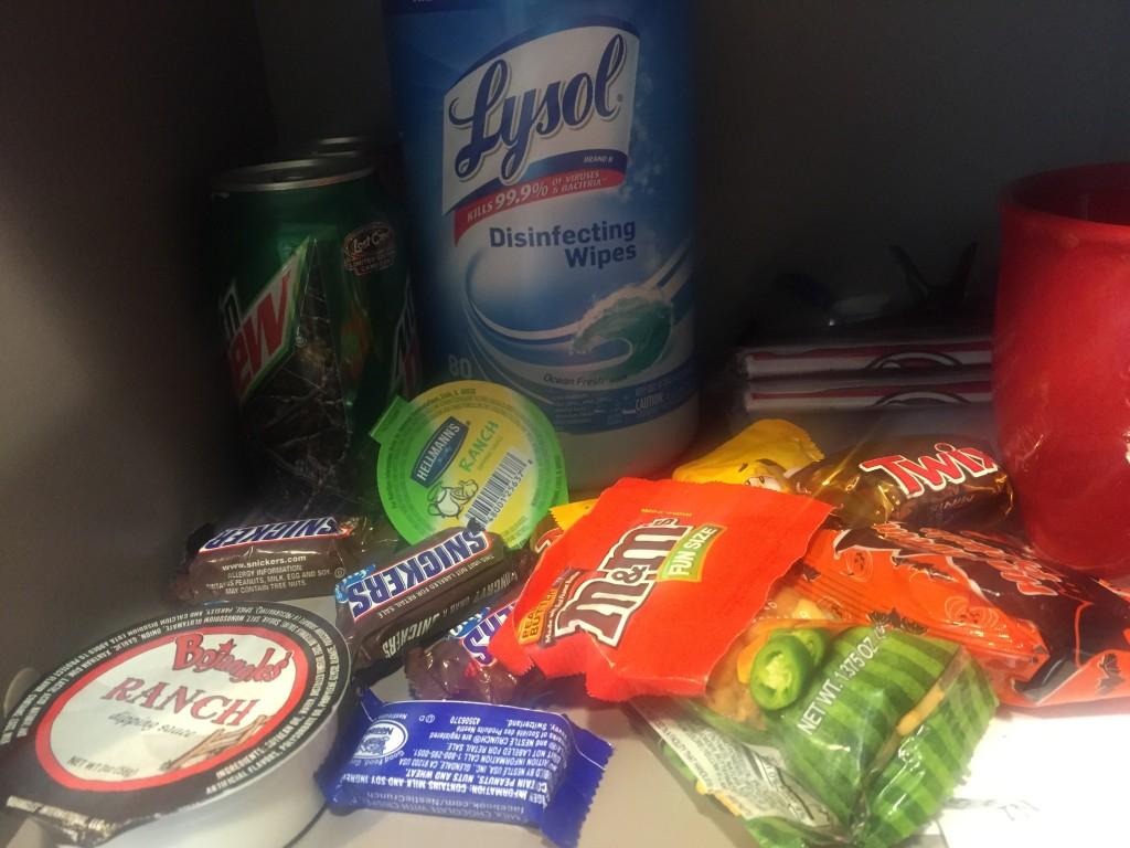 Angie's snack stash