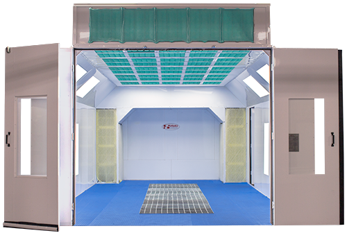 NEW! Heated Full Downdraft Booth  : Paint-Booths com