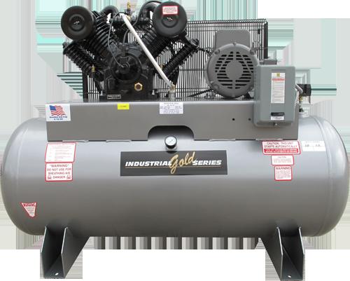 5 horsepower 80 gallon horizontal air compressor 1 phase for Car paint air compressor